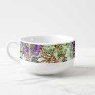 lavender soup mug soup bowl with handle