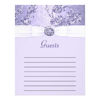 Lavender Sparkle Wonderland Wedding Letterhead