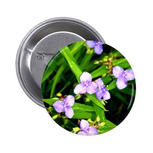 Lavender Spider Flower 2 Inch Round Button