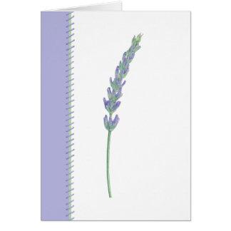 Lavender Sprig Card