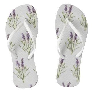 Lavender Sprigs Flip Flops