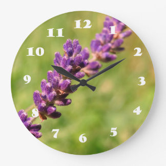 Lavender Stalk Photo Wall Clock