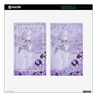 """""""Lavender Star and Crystals"""" collection Decals For Kindle Fire"""