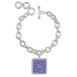 Lavender Starry Sky Personalize Bracelets