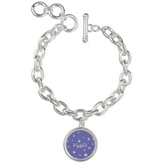 Lavender Starry Sky Personalize Charm Bracelet
