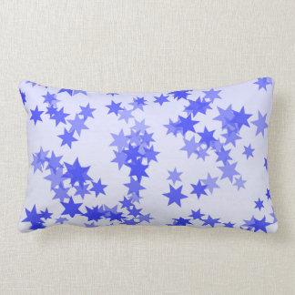 Lavender Stars Lumbar Pillow