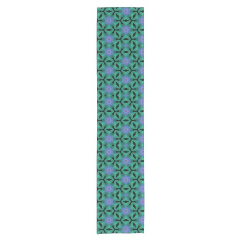 Lavender Stars on Jade Table Runner