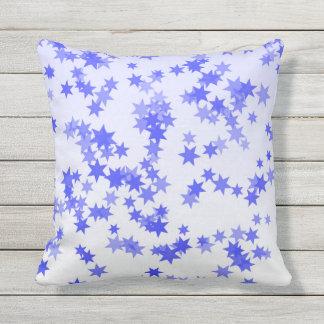 Lavender Stars Throw Pillow