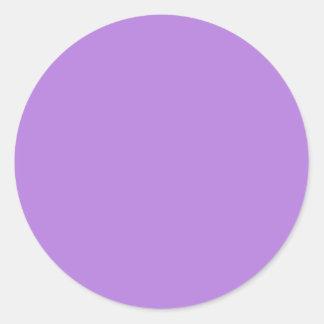 Lavender Round Stickers