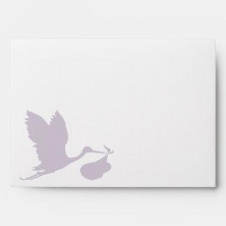 Lavender Stork Envelope
