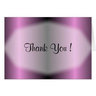Lavender Stripe Thank You Card