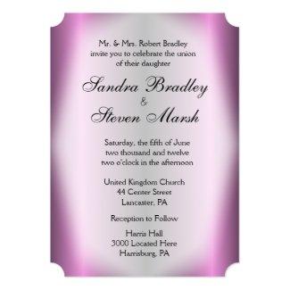 Lavender Stripe Wedding Invitations