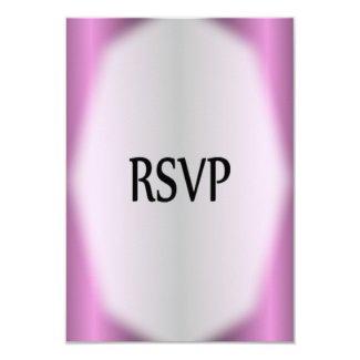 Lavender Stripe Wedding RSVP 3.5x5 Paper Invitation Card