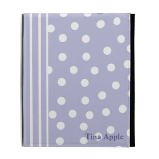 Lavender Stripes and Polka Dots iPad Case