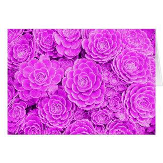 Lavender Succulent Note Card