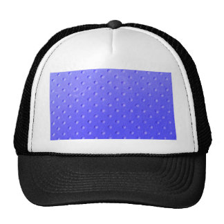 Lavender suede with polka dots pattern trucker hats