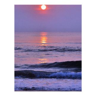 Lavender sun letterhead