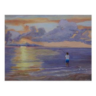 Lavender Sunrise Postcard