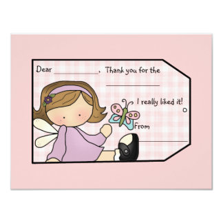 "Lavender Sweetie Thank You Card 4.25"" X 5.5"" Invitation Card"