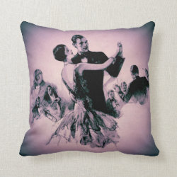 Lavender Swing Time Throw Pillow