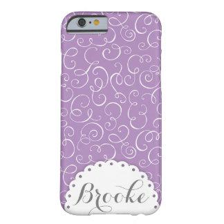Lavender Swirl Custom Name Decorative Case