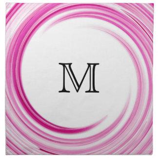 Lavender Swirl Modern Abstract Monogram Cloth Napkin