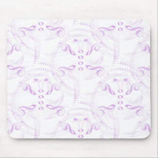 Lavender Swirled Music Butterfly Mouse Pad