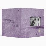 Lavender Swirls Wedding Binder