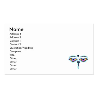 Lavender teal Buddha Eyes.png Business Cards