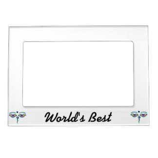 Lavender teal Buddha Eyes.png Magnetic Picture Frame