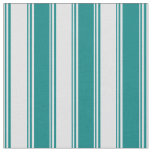 [ Thumbnail: Lavender & Teal Colored Pattern of Stripes Fabric ]