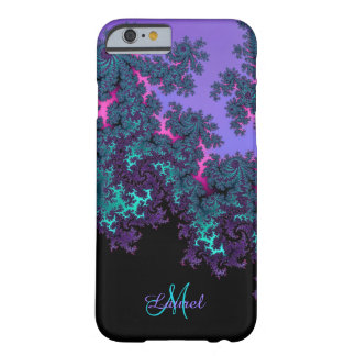 Lavender Teal Fractal Personalized iPhone 6 Case