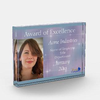 Lavender Teal Mauve Sparkle Acrylic Award