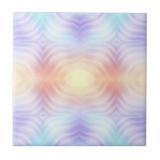Lavender Teal Melon Yellow Ceramic Tile