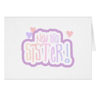 Lavender Text New Big Sister Card