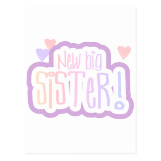 Lavender Text New Big Sister Tshirts and Gifts Postcard