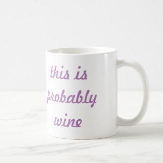 Lavender This Is Probably Wine Coffee Mug