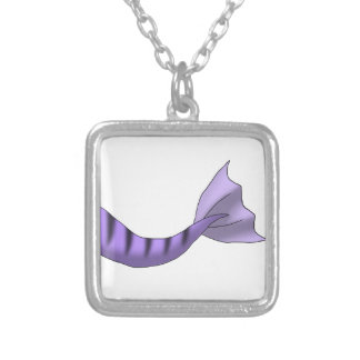 Lavender Tiger Mermaid Tail Necklace