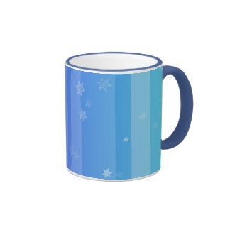 Lavender to Mint Color Scale with Snowflakes Cup Coffee Mug