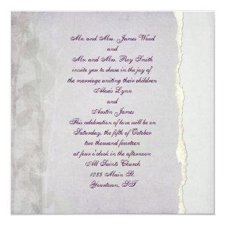 Lavender Torn Edge Invitation