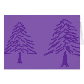 Lavender Tree Doodle Card
