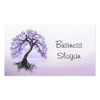 Lavender Tree of Life Connect with Your Customer Double-Sided Standard Business Cards (Pack Of 100)
