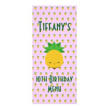 McTiffany Tiffany Aqua Lavender tropical pineapple rack card