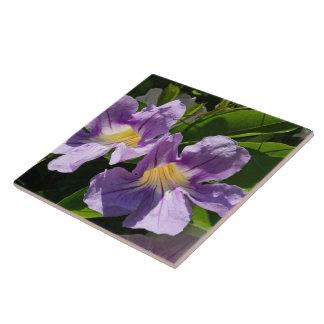 Lavender Trumpets Ceramic Tile
