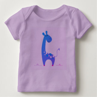 Lavender tshirt with Giraffe