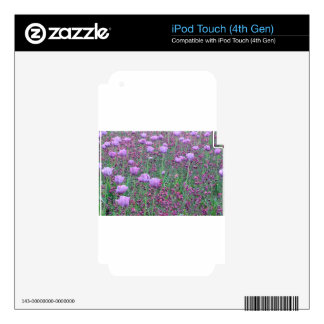 Lavender Tuilips Tom Wurl Decal For iPod Touch 4G