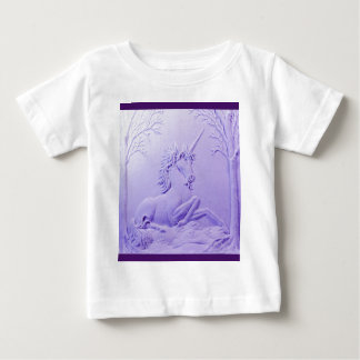 Lavender Unicorn in Forest Glade by Sharles Baby T-Shirt