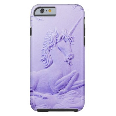 Lavender Unicorn in Forest Glade by Sharles iPhone 6 Case
