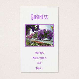 Lavender Verbena Purple Petunias Business Card