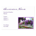 Lavender Verbena Purple Petunias Business Card Templates